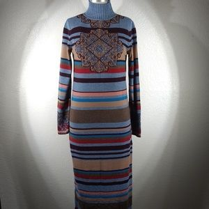 NWT IVKO Wool Roll Neck Dress Sz 6